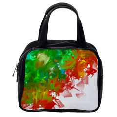 Digitally Painted Messy Paint Background Textur Classic Handbags (one Side)
