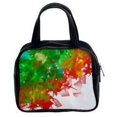 Digitally Painted Messy Paint Background Textur Classic Handbags (2 Sides)
