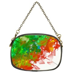 Digitally Painted Messy Paint Background Textur Chain Purses (two Sides)
