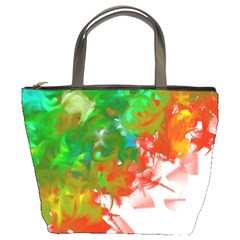 Digitally Painted Messy Paint Background Textur Bucket Bags