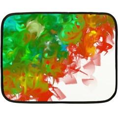 Digitally Painted Messy Paint Background Textur Fleece Blanket (Mini)