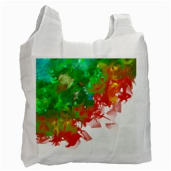 Digitally Painted Messy Paint Background Textur Recycle Bag (Two Side)
