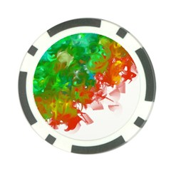Digitally Painted Messy Paint Background Textur Poker Chip Card Guard (10 pack)