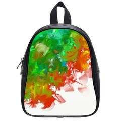 Digitally Painted Messy Paint Background Textur School Bags (Small)