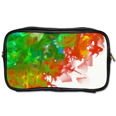 Digitally Painted Messy Paint Background Textur Toiletries Bags 2 Side