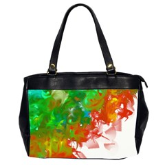 Digitally Painted Messy Paint Background Textur Office Handbags (2 Sides)