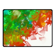 Digitally Painted Messy Paint Background Textur Fleece Blanket (small)