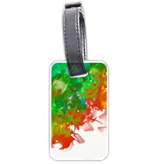 Digitally Painted Messy Paint Background Textur Luggage Tags (one Side)
