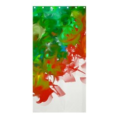 Digitally Painted Messy Paint Background Textur Shower Curtain 36  x 72  (Stall)