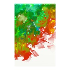 Digitally Painted Messy Paint Background Textur Shower Curtain 48  x 72  (Small)