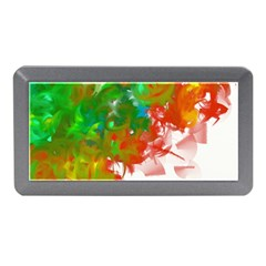Digitally Painted Messy Paint Background Textur Memory Card Reader (Mini)