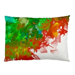 Digitally Painted Messy Paint Background Textur Pillow Case (two Sides)