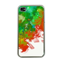 Digitally Painted Messy Paint Background Textur Apple Iphone 4 Case (clear)