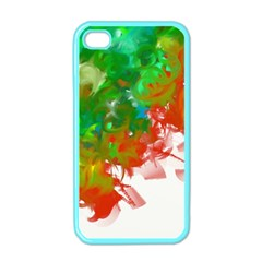 Digitally Painted Messy Paint Background Textur Apple Iphone 4 Case (color)