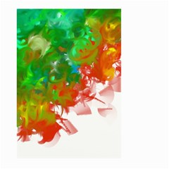 Digitally Painted Messy Paint Background Textur Large Garden Flag (Two Sides)