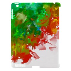 Digitally Painted Messy Paint Background Textur Apple Ipad 3/4 Hardshell Case (compatible With Smart Cover)