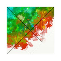 Digitally Painted Messy Paint Background Textur Acrylic Tangram Puzzle (6  X 6 )