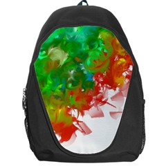 Digitally Painted Messy Paint Background Textur Backpack Bag