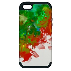 Digitally Painted Messy Paint Background Textur Apple Iphone 5 Hardshell Case (pc+silicone)