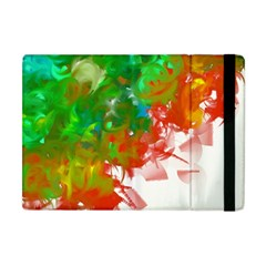 Digitally Painted Messy Paint Background Textur Apple iPad Mini Flip Case