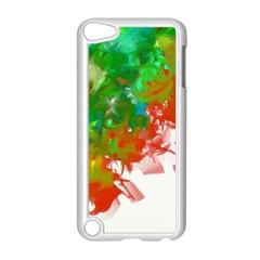 Digitally Painted Messy Paint Background Textur Apple iPod Touch 5 Case (White)