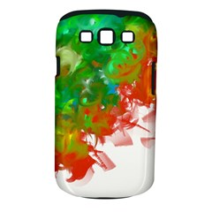 Digitally Painted Messy Paint Background Textur Samsung Galaxy S III Classic Hardshell Case (PC+Silicone)