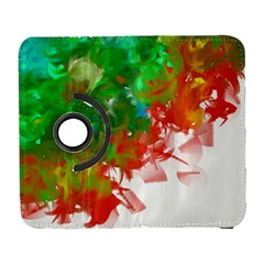 Digitally Painted Messy Paint Background Textur Galaxy S3 (flip/folio)