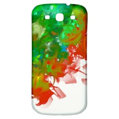 Digitally Painted Messy Paint Background Textur Samsung Galaxy S3 S III Classic Hardshell Back Case