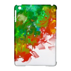 Digitally Painted Messy Paint Background Textur Apple Ipad Mini Hardshell Case (compatible With Smart Cover)