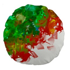 Digitally Painted Messy Paint Background Textur Large 18  Premium Round Cushions