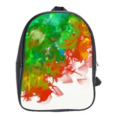 Digitally Painted Messy Paint Background Textur School Bags (XL)