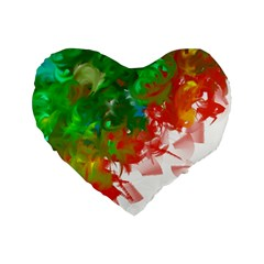Digitally Painted Messy Paint Background Textur Standard 16  Premium Heart Shape Cushions