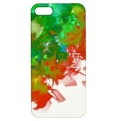 Digitally Painted Messy Paint Background Textur Apple Iphone 5 Hardshell Case With Stand