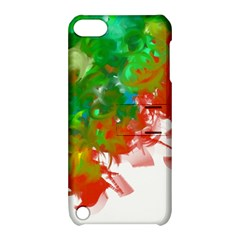 Digitally Painted Messy Paint Background Textur Apple Ipod Touch 5 Hardshell Case With Stand