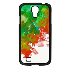 Digitally Painted Messy Paint Background Textur Samsung Galaxy S4 I9500/ I9505 Case (Black)
