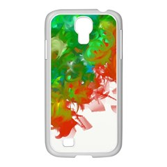 Digitally Painted Messy Paint Background Textur Samsung Galaxy S4 I9500/ I9505 Case (white)