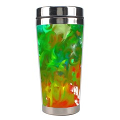 Digitally Painted Messy Paint Background Textur Stainless Steel Travel Tumblers