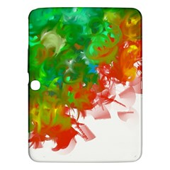 Digitally Painted Messy Paint Background Textur Samsung Galaxy Tab 3 (10.1 ) P5200 Hardshell Case