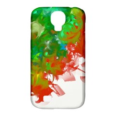 Digitally Painted Messy Paint Background Textur Samsung Galaxy S4 Classic Hardshell Case (PC+Silicone)
