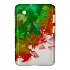 Digitally Painted Messy Paint Background Textur Samsung Galaxy Tab 2 (7 ) P3100 Hardshell Case