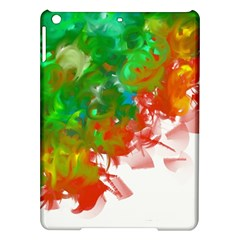 Digitally Painted Messy Paint Background Textur iPad Air Hardshell Cases