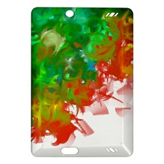 Digitally Painted Messy Paint Background Textur Amazon Kindle Fire HD (2013) Hardshell Case