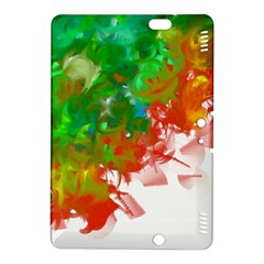 Digitally Painted Messy Paint Background Textur Kindle Fire HDX 8.9  Hardshell Case