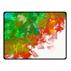 Digitally Painted Messy Paint Background Textur Double Sided Fleece Blanket (Small)