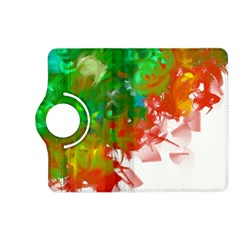 Digitally Painted Messy Paint Background Textur Kindle Fire HD (2013) Flip 360 Case