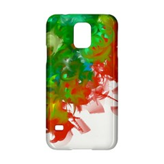 Digitally Painted Messy Paint Background Textur Samsung Galaxy S5 Hardshell Case