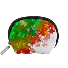 Digitally Painted Messy Paint Background Textur Accessory Pouches (Small)
