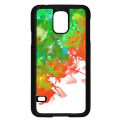 Digitally Painted Messy Paint Background Textur Samsung Galaxy S5 Case (Black)