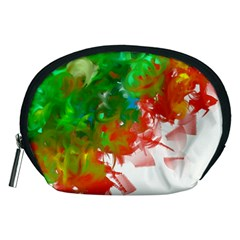 Digitally Painted Messy Paint Background Textur Accessory Pouches (Medium)