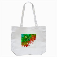Digitally Painted Messy Paint Background Textur Tote Bag (White)
